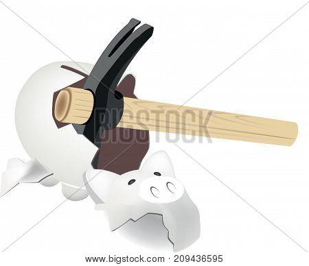 hammer break piggy pig shape hammer break piggy pig shape