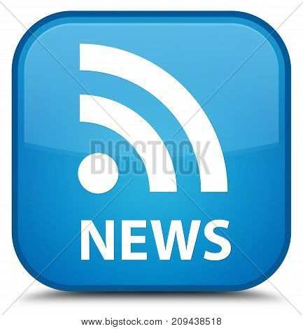 News (rss Icon) Special Cyan Blue Square Button
