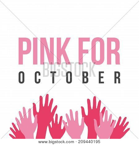 Collection breast cancer day style vector illustration