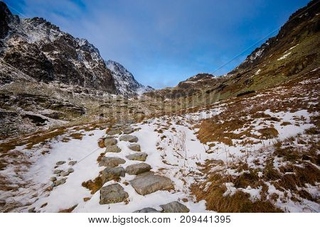 Slovakian Velicka Dolina Tatry Mountains