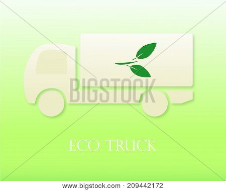 Eco truck Icon. Modern Vector illustration. Eco Concept