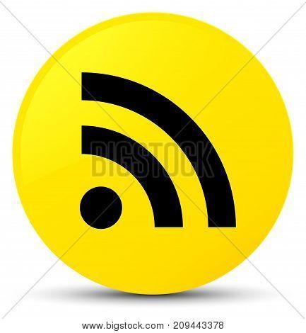Rss Icon Yellow Round Button