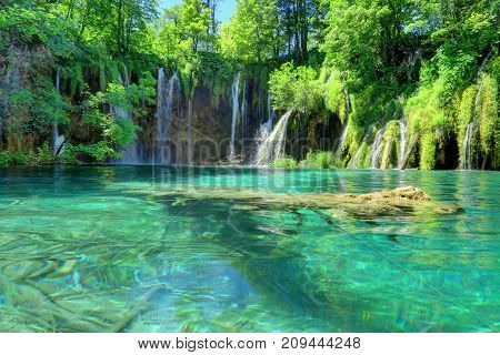 Croatia's Plitvice Lakes National Park is famous for the sapphire color of its water in 16 lakes