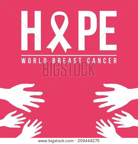 Pink background for breast cancer day vector illustration