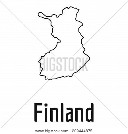 Finland map thin line. Simple illustration of Finland map vector isolated on white background