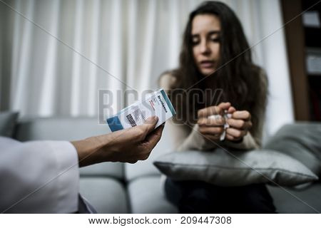 Woman having a counseling session