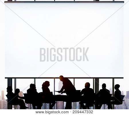 Business people at a presentation