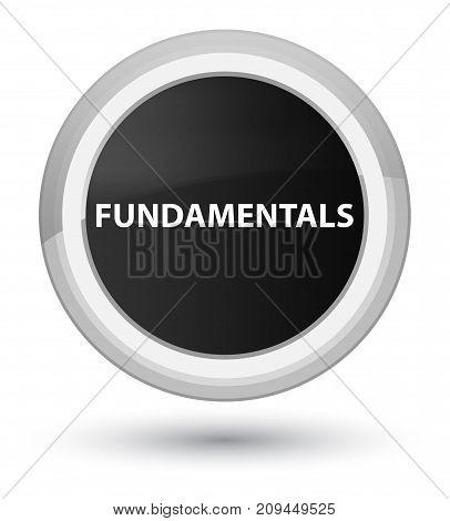 Fundamentals Prime Black Round Button
