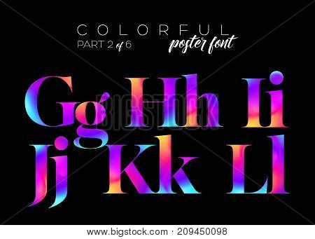 Colorful Bright Neon Typeset. Electric Pink Purple Blue Colors. Dynamic Fluorescent Fluid Paint. Vector Vibrant Letters for Music Poster Cover Banner Fashion Invitation Cover.