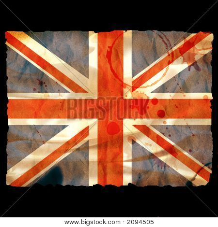 Old Burned Paper Union Jack