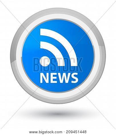 News (rss Icon) Prime Cyan Blue Round Button