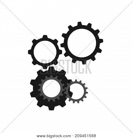 Set of cogwheels connected with each other