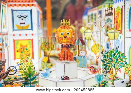 caramel town in store with animals and flowers
