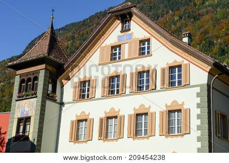 Old House At Altdorf In The Canton Of Uri, Switzerland