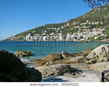 THE BEAUTIFUL TURQUOISE WATER OF CLIFTON, CAPE TOWN, SOUTH AFRICA