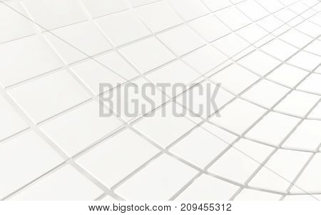Abstract background array of white shinny cubes. 3d rendering