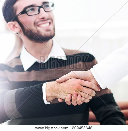 Successful Business People Shaking Hands With Each Other