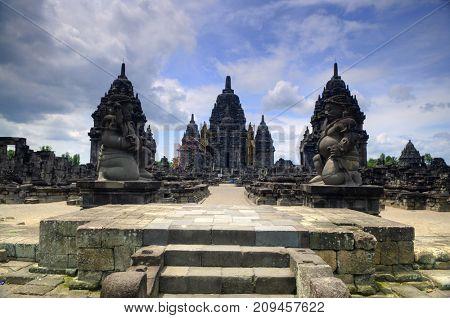 Hindu temple Prambanan. Indonesia, Central Java, Yogyakarta