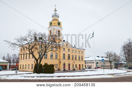 Town Hall Of Hamina In Winter