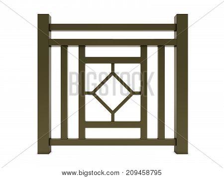 Design brown metal railing render 3d model