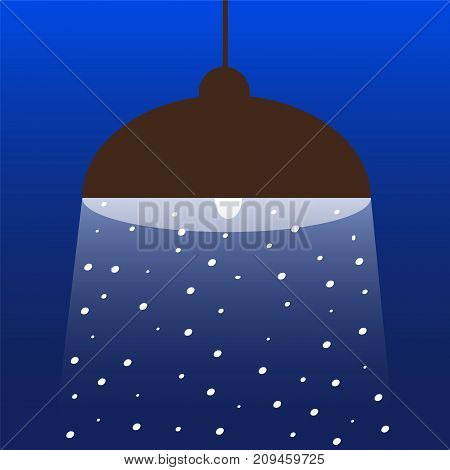 Lantern under the snow. Vektorgaya illustration for your design