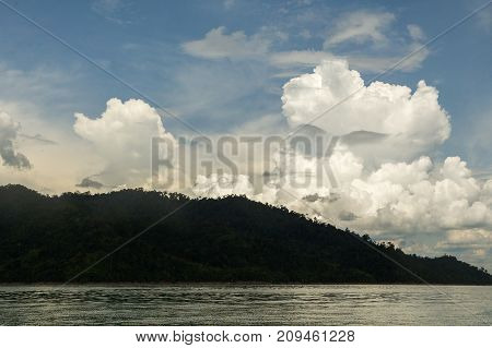 A Cloud In The Form Of A Face Above The Lake