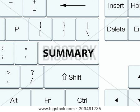 Summary White Keyboard Button