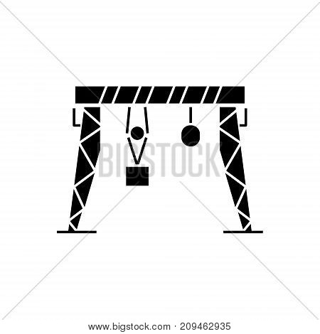 harbour crane icon, illustration, vector sign on isolated background
