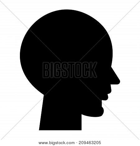 head empty icon, illustration, vector sign on isolated background