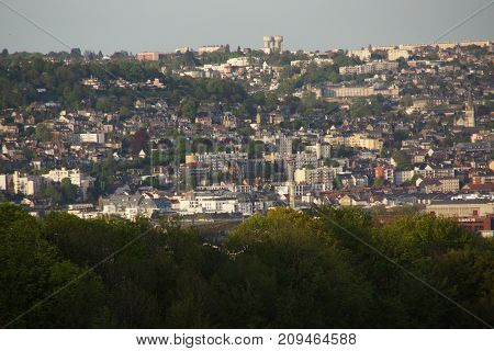PANORAMIC VIEW OF THE CITY OF ROUEN. NOMAND REGION, SITUATED IN FRANCE.