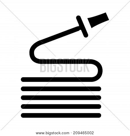 hose icon, illustration, vector sign on isolated background