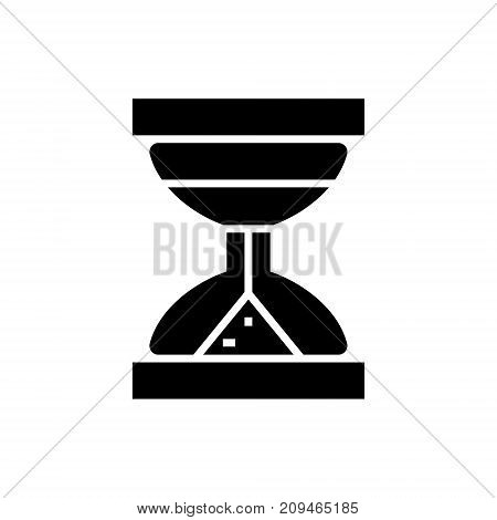 hourglass icon, illustration, vector sign on isolated background