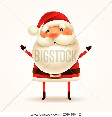 Santa Claus. Vector illustration of Santa Claus on white background. Isolated.