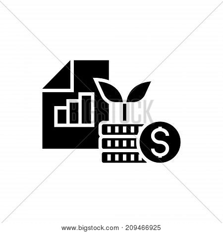 investment portfolio icon, illustration, vector sign on isolated background