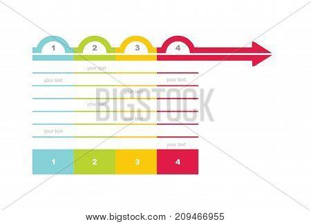 Flowchart template - abstract illustration with copy paste area. Ideal for your presentation.