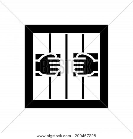 jail icon, illustration, vector sign on isolated background