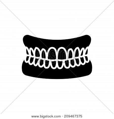 jaw with teeth - human jaw icon, illustration, vector sign on isolated background