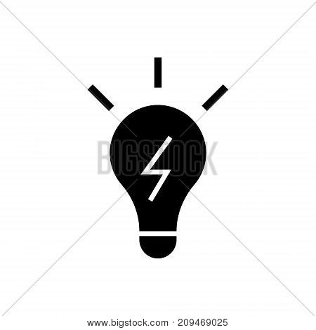 lamp idea icon, illustration, vector sign on isolated background
