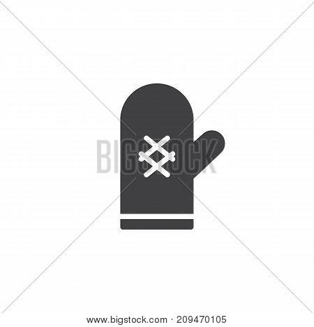 Oven mitt icon vector, filled flat sign, solid pictogram isolated on white. Pot holder symbol, logo illustration.
