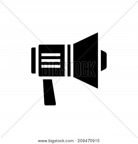 loudspeaker simple icon, illustration, vector sign on isolated background