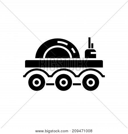lunar vehicle icon, illustration, vector sign on isolated background