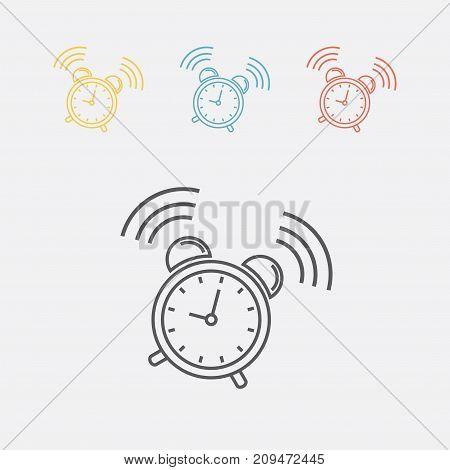 Alarm clock sign icon. Wake up alarm symbol. Vector sign for web graphics.
