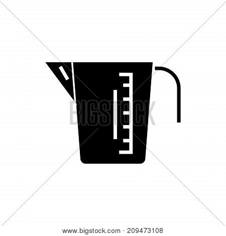 measuring cup icon, illustration, vector sign on isolated background