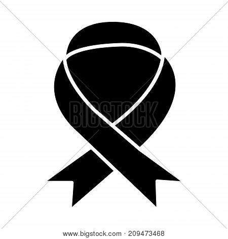 medical ribbon icon, illustration, vector sign on isolated background