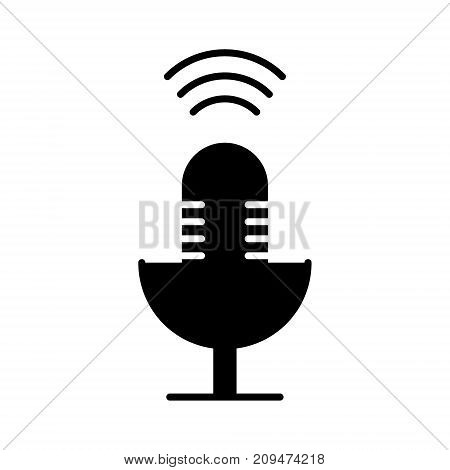 microphone mic icon, illustration, vector sign on isolated background