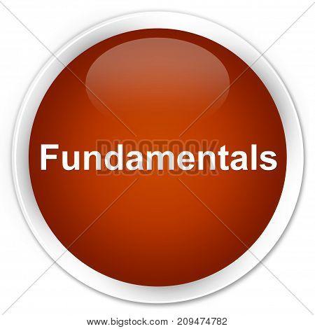 Fundamentals Premium Brown Round Button