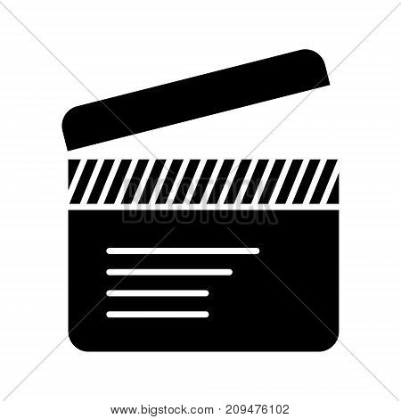 movie clapper icon, illustration, vector sign on isolated background