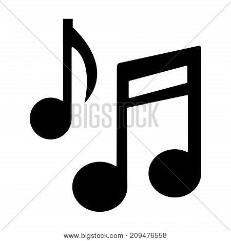 music note base icon, illustration, vector sign on isolated background