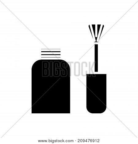 nail polish icon, illustration, vector sign on isolated background