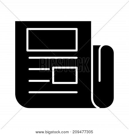 news report icon, illustration, vector sign on isolated background